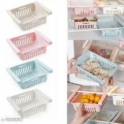 Plastic Adjustable Fridge Storage Rack