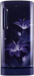 5 Star Purple Glow LG 215 Litre Smart Inverter Compressor Refrigerator, Single Door, Model Name/Number: GL-D221ABGY