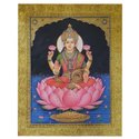 Lakshmi Ji Tanjore Painting On Paper Sheet