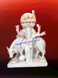 2 Feet Lord Dattatreya Ji Marble Statue