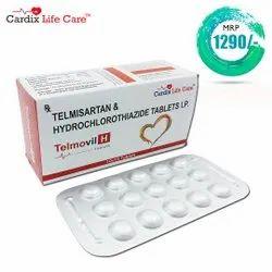 Telmisartan 40mg + Hydrochlorothiazide 12.5mg tablet