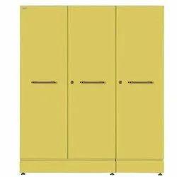 Geeken 3 Doors Victoria Steel Storage Almirah, For Home, With Locker