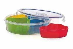 Plastic Round Aristo Lock & Fresh Dry Fruits Container