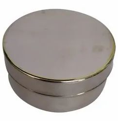 Silver Stainless Steel Flat Container, Capacity: 2kg