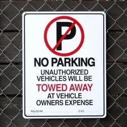 Fiber Vehicle No Parking Advertising Board Service