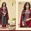 Exclusive Unstitched Silk With Work Salwar Suit
