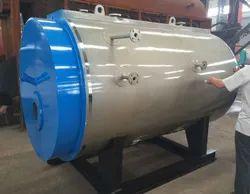 Oil & Gas Fired 300 Kg/hr Steam Boiler, Non IBR