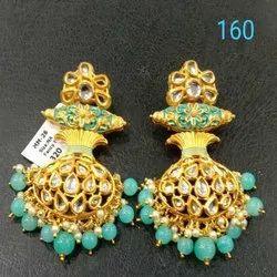 Rounded Western Kundan Earring Set For Women And Girl Bijoux