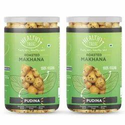 Healthy Treat Roasted Makhana- Pudina 140 Gm (Pack Of 2 Jars-70 Gm Each)