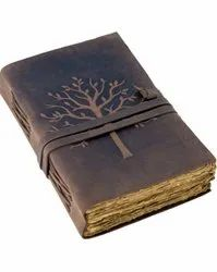 Tree of Life Leather Embossed Journal With Deckle Edge paper