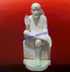 Sitting Marble Sai Baba Statue