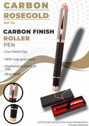 Carbon Finish Rosegold Roller Pen