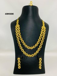 Gold Plated Long Necklace Jewelry