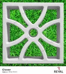 Concrete Hollow Reyal Cement Breeze Blocks, For Side Walls, Size: 8 In. X 8 In. X 2.30 In