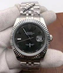 Rolex Date-Just Dual Tone Black Dial Roman Marking Swiss Automatic Watch