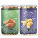 Healthy Treat Premium Roasted Almond And Cashew Combo 400 Gm - Pack Of 2 - 200 Gm Each