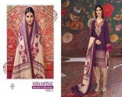Sana Safinaz Muzlin Vol 7 By Shree Fabs Cotton Work Pakistani Work Dress Materials