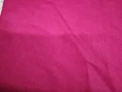 Polyester Cotton Fabric For Use Kurti Suits, Plain/Solids, Dark Pink