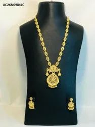 Gold plated indian antique necklace set jewellery