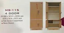 Steel 2 Doors Double Door Iron Almirah, With Locker