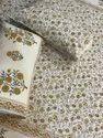 Hand Block Cotton Floral Print Bedsheet