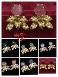 Carbon Stone Earrings