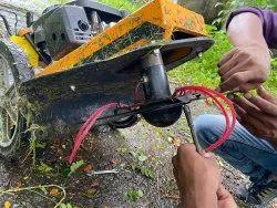 Wheeled String Trimmer, Field Brush Cutter Lawn Mower For Wild Grass, not cubcadet