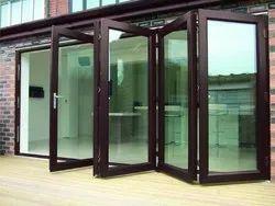 Brown UPVC Bi Fold Sliding Door, Glass Thickness: 6mm