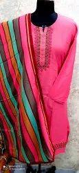 RK Jaam Satin Designer Unstitched Suits