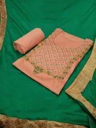 Keyanshi Jaam Cotton Hand Work Salwar Suits & Dress Materials, For Party Wear