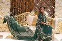 Satin Embroidered Somali Dirac Fabric Designer Bridal Dirac Wedding Dress Somali Bridal