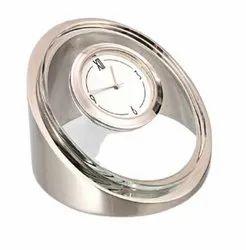 Customized Metal Glass Table Clock