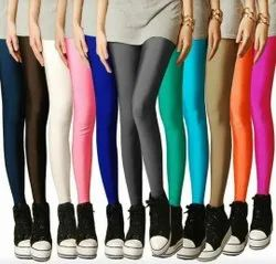 Cream Ladies Leggings Distributor/whoesaler, Casual Wear, Slim Fit