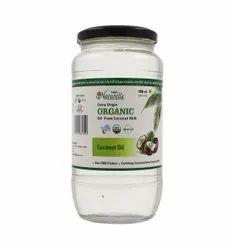 Farm Naturelle-100%纯有机特级初榨冷榨椰子油(玻璃瓶-1000毫升)