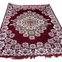 Cotton Maroon Printed Floor Carpet, Size: 122.92 X 179.88 X 2 cm