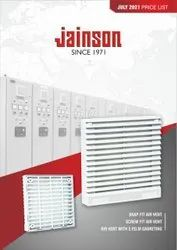 JAINSON Screw Type Air Vent Fan Filter, For Industrial Use, Capacity: 4