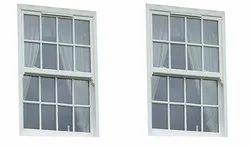 White UPVC Sash Window, Glass Thickness: 5mm