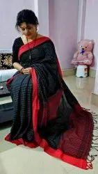 Handloom Cotton Check Saree