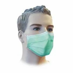 Disposable  Filter Face Mask 3 Ply With Elastic - (Pack Of 100)(Green colour)