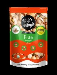 Salted Wifes Magic Pista Pistachio 500Gms, Packaging Type: Pouch