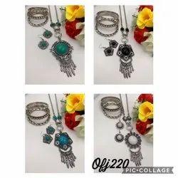 Long Oxidised Necklace set