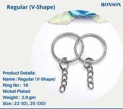V Ring Keychain RING