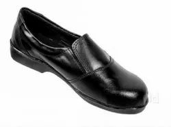 Synthetic Leather Ladies Slip On Safety Shoes