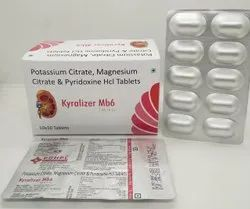 Potassium Citrate 1100 MG, Magnesium 375 MG, Citrate & Pyridoxine HCL 20 MG Tablets - Kyralizer MB6