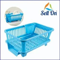 3 In 1 Large Durable Plastic Kitchen Sink Dish Rack