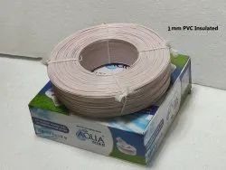 White 1 mm PVC Insulated Submersible Winding Wire