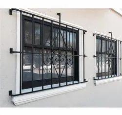 Aluminium Color Coated Aluminum Window Grill, For Home Use, Rectangular
