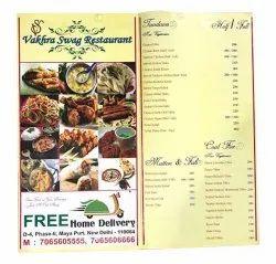 Paper Menu Card Printing Services, in Pan India