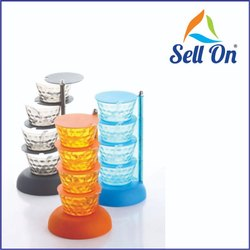 Plastic Pickle Spice Tower Kitchen Container Set