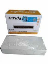White Tenda S108 8-Port Desktop Switch